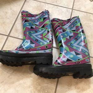 Super fun rain boots